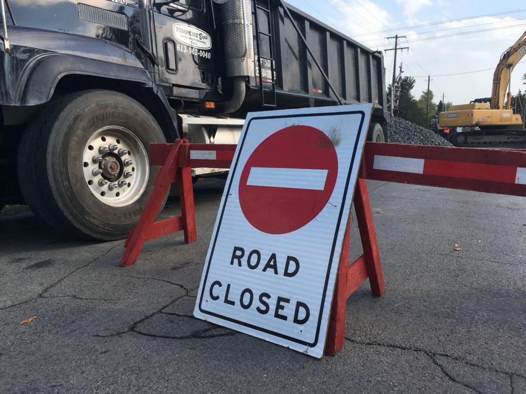 Emergency road work in QW