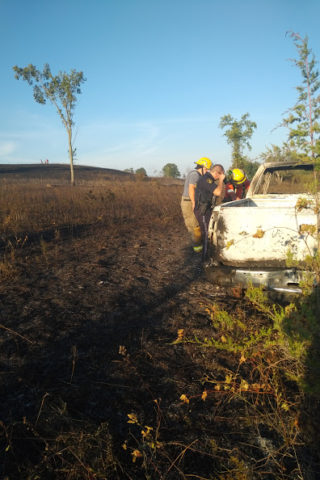 Large swamp fire in Murray Marsh