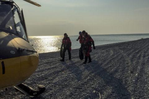 Stranded boater and dog safe again