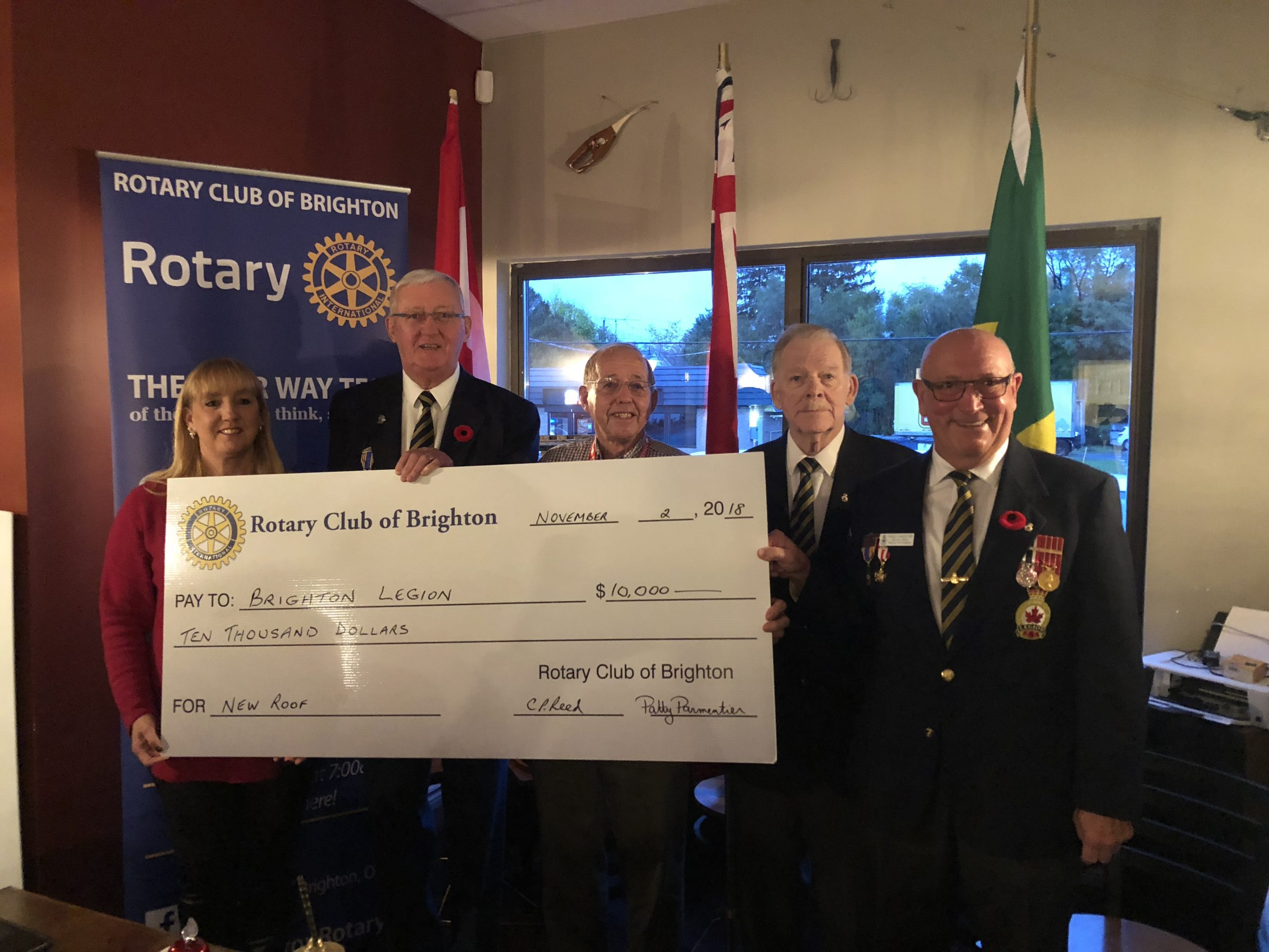 Rotary supports Legion roof fund