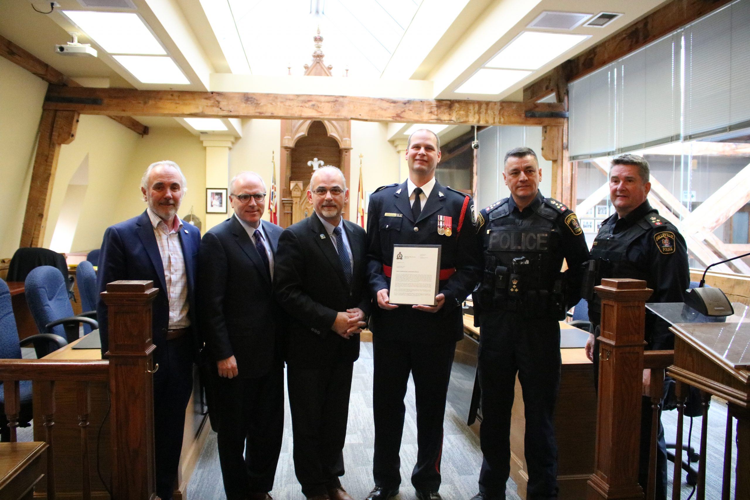 Police Services Board bestows honours for life saving and service