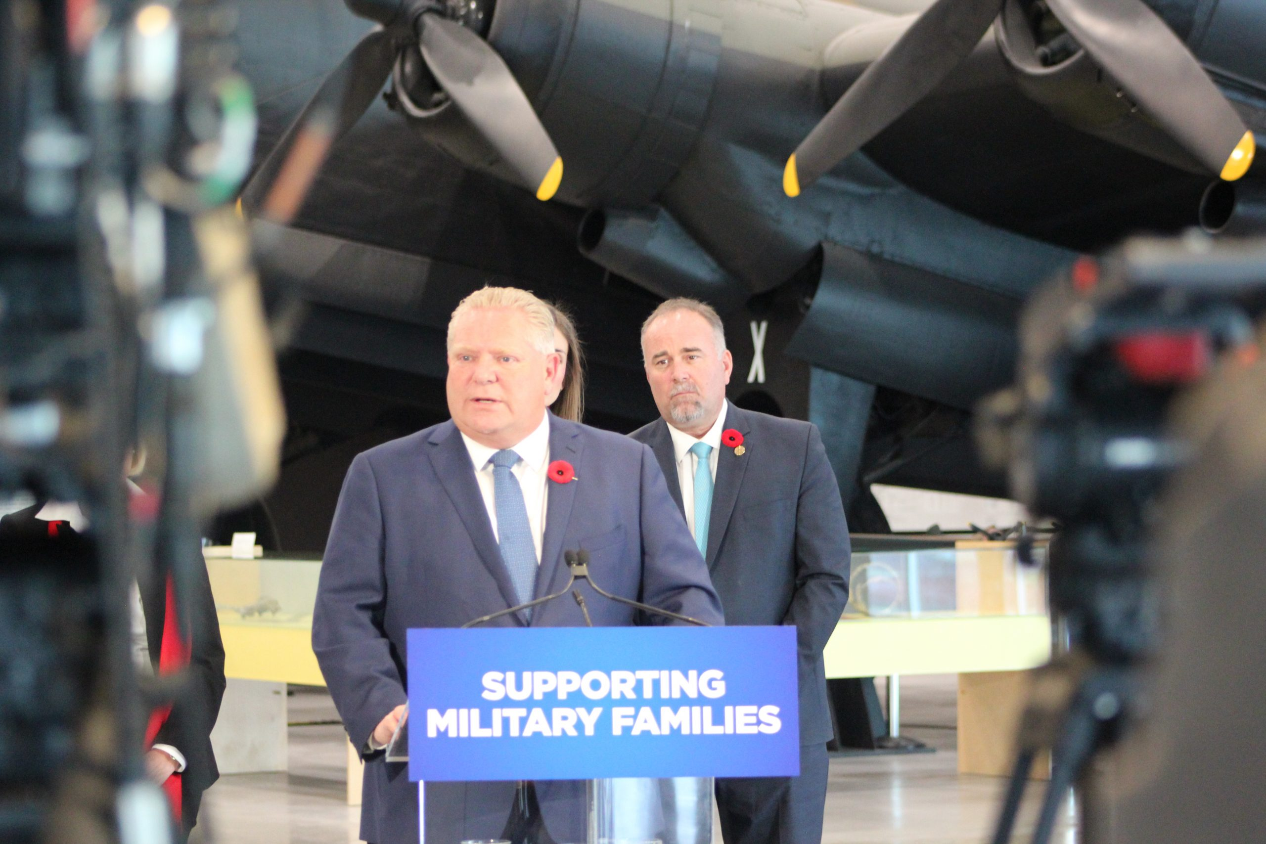 Ford makes military family hotline announcement at CFB Trenton