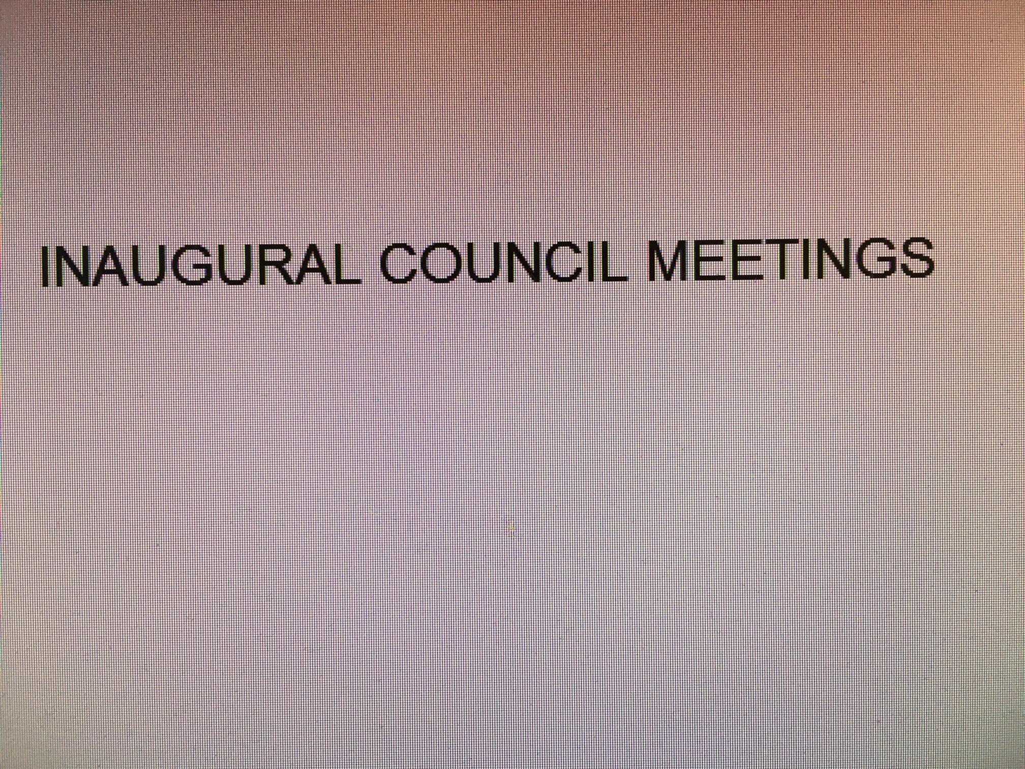 Inaugural meetings galore