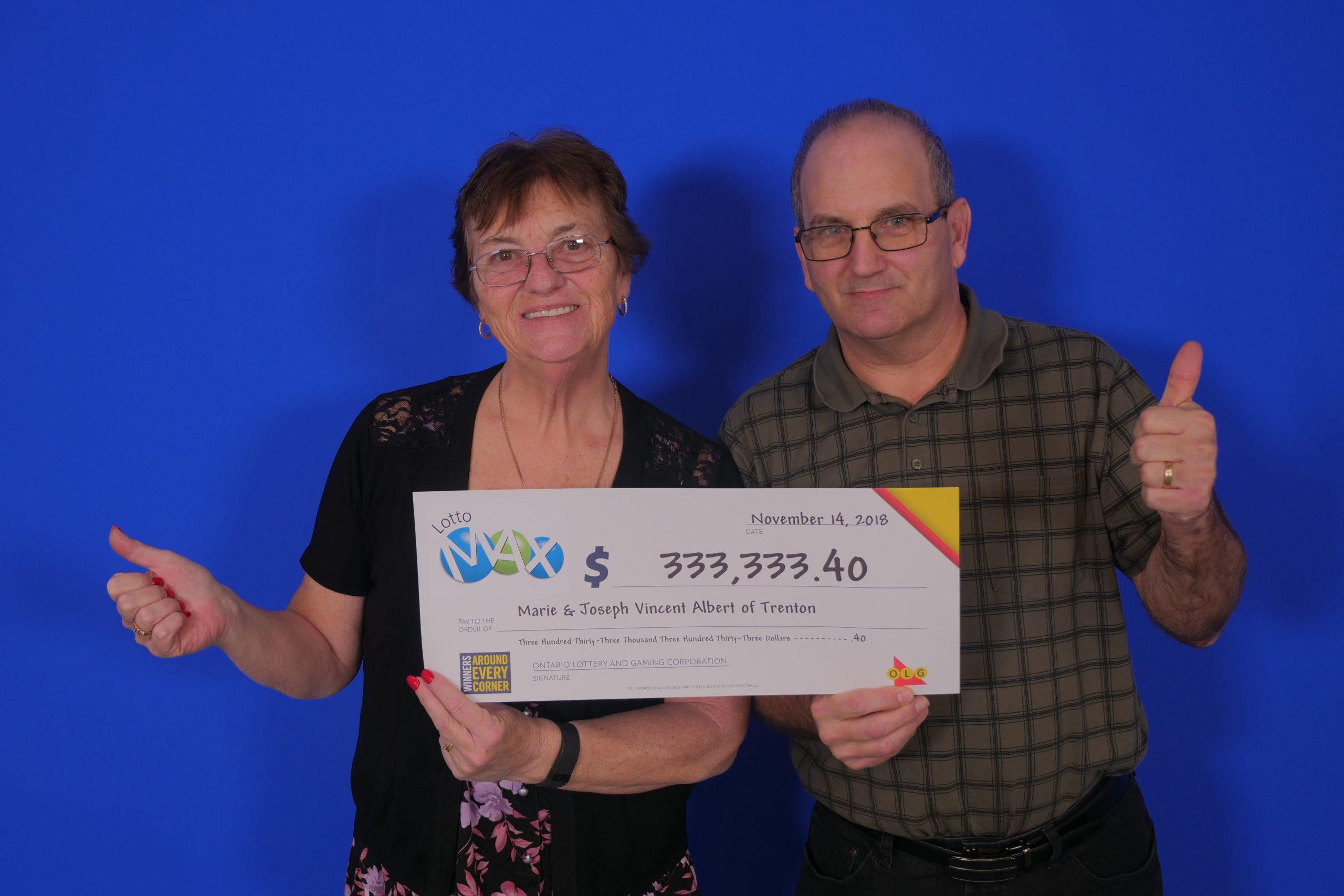 Trenton couple wins Maxmillions prize