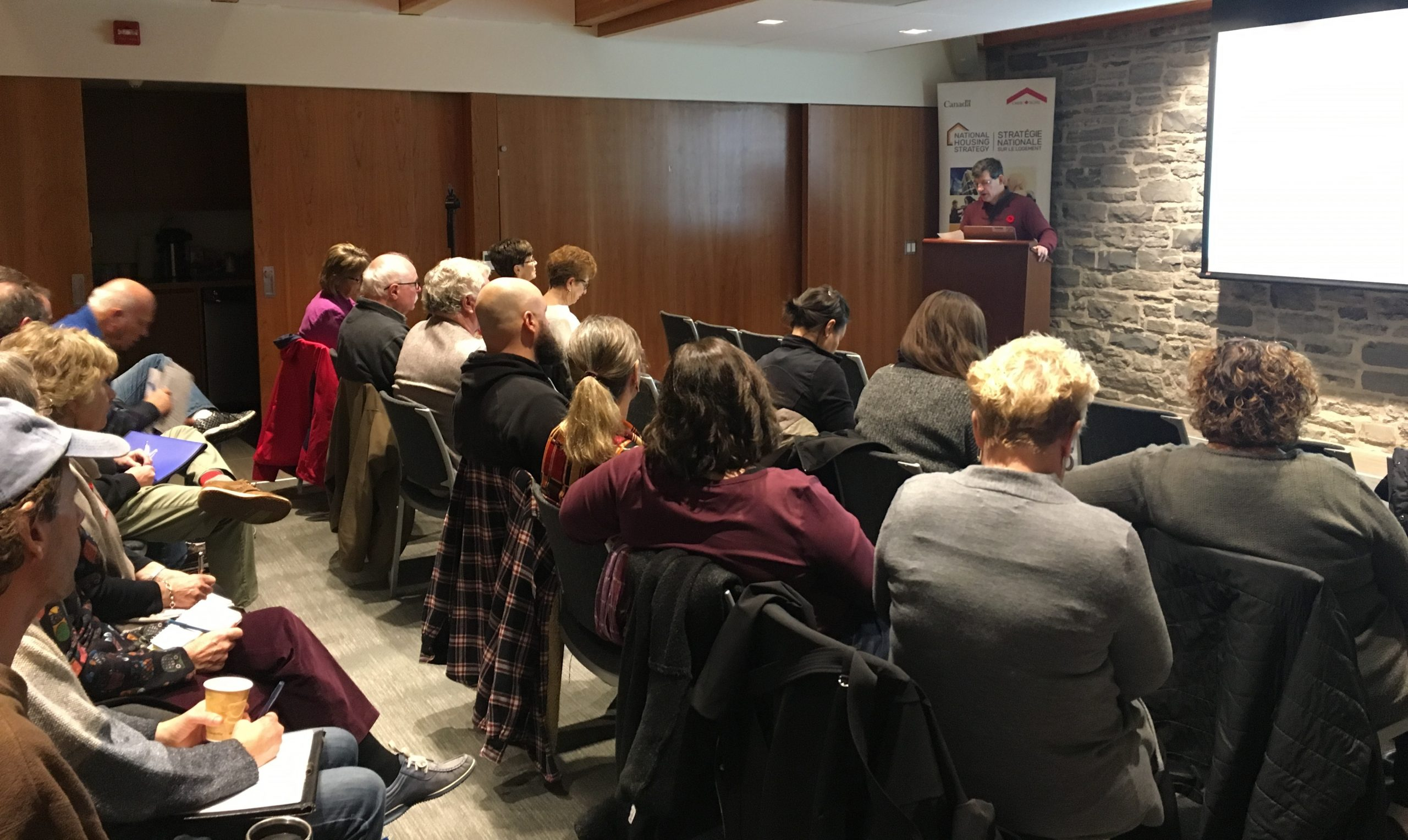 Packed house in Napanee for Bossio's housing workshop