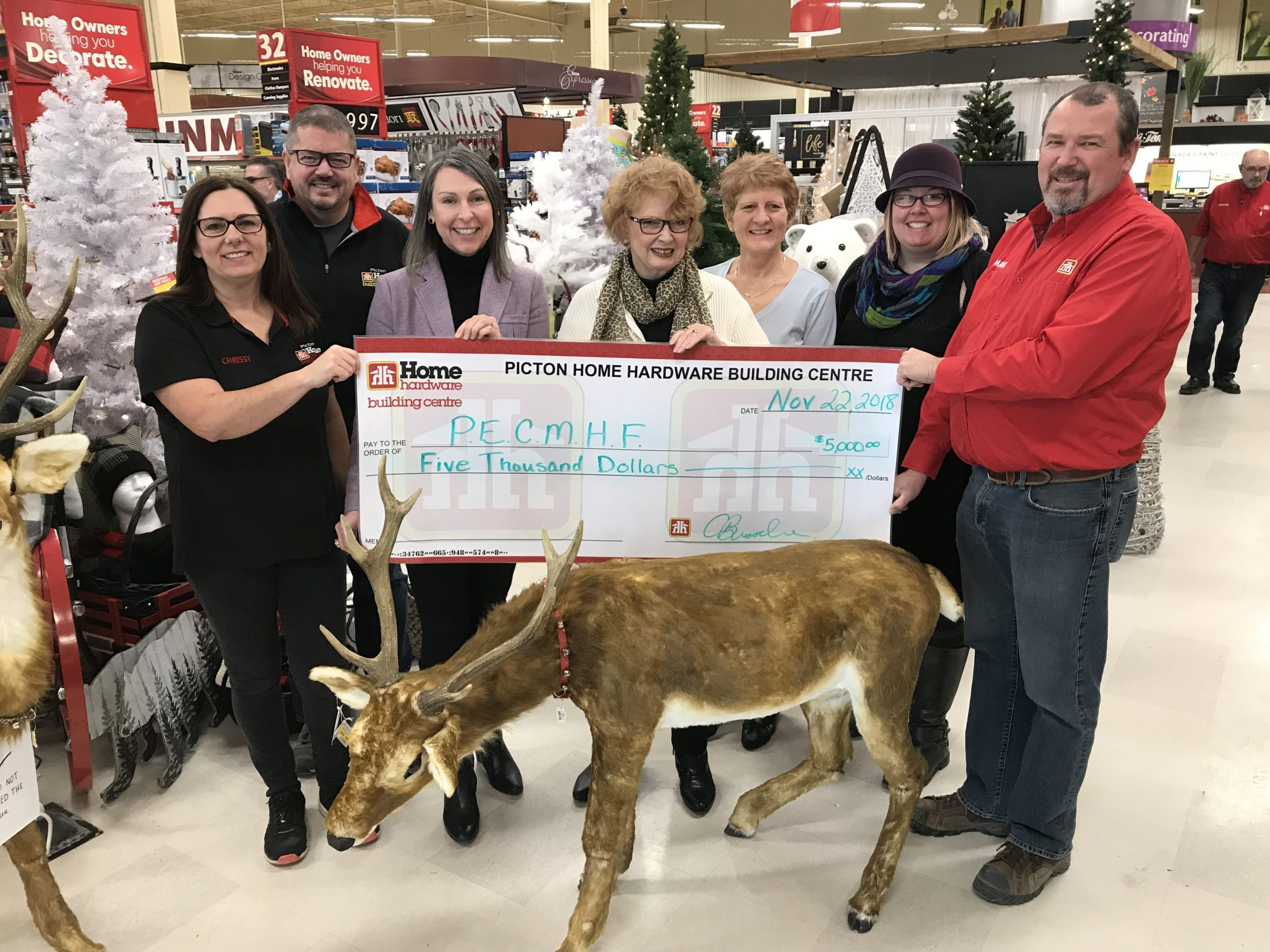Picton Home Hardware donates $5,000 to Back The Build Campaign