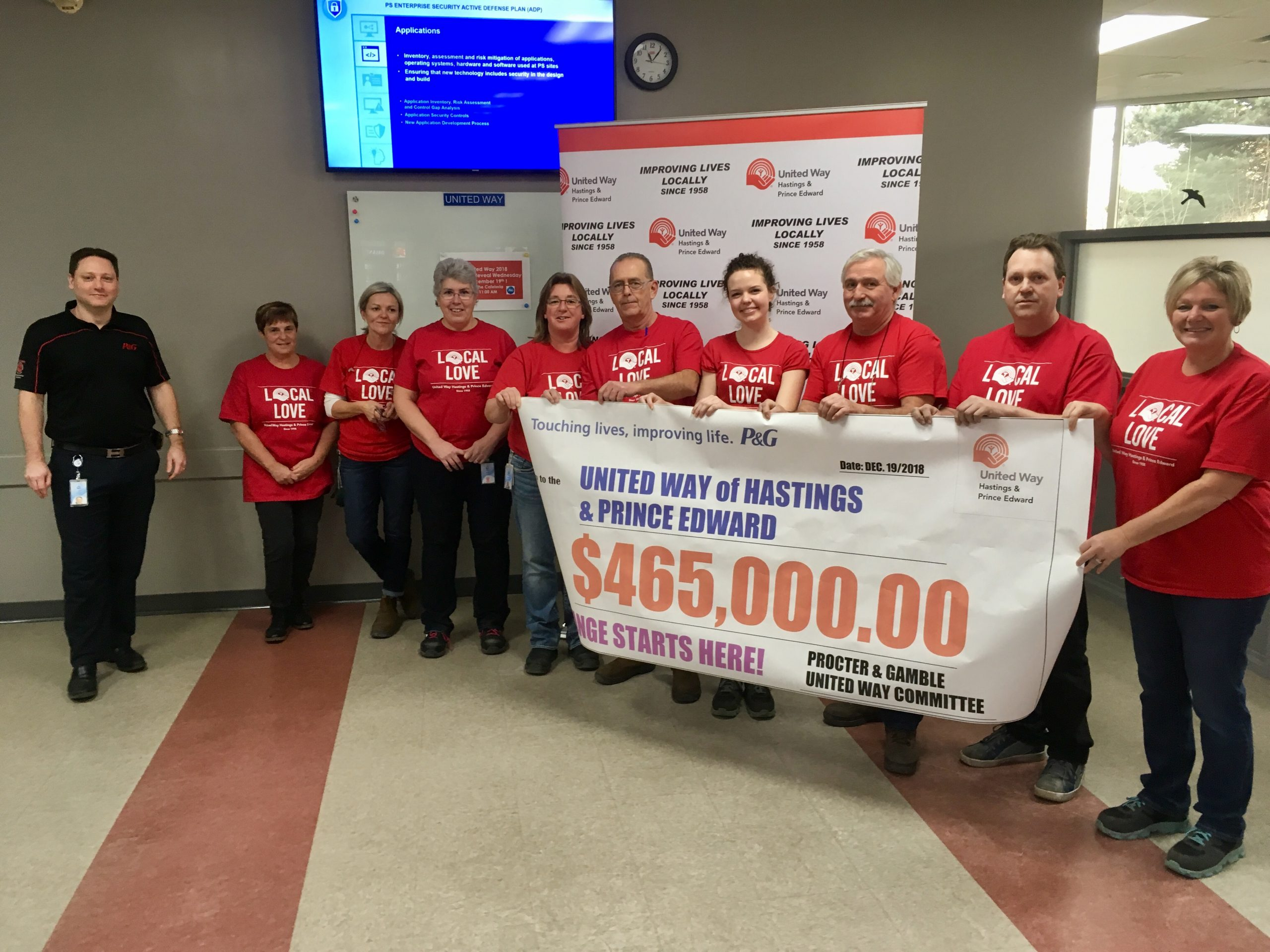 P&G deliver United Way HPE an early Christmas gift