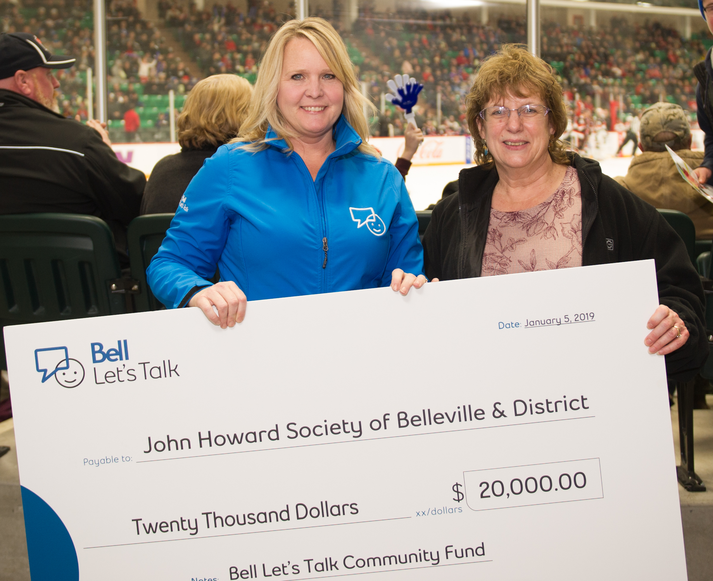 Bell helping with mental and physical well being around Quinte