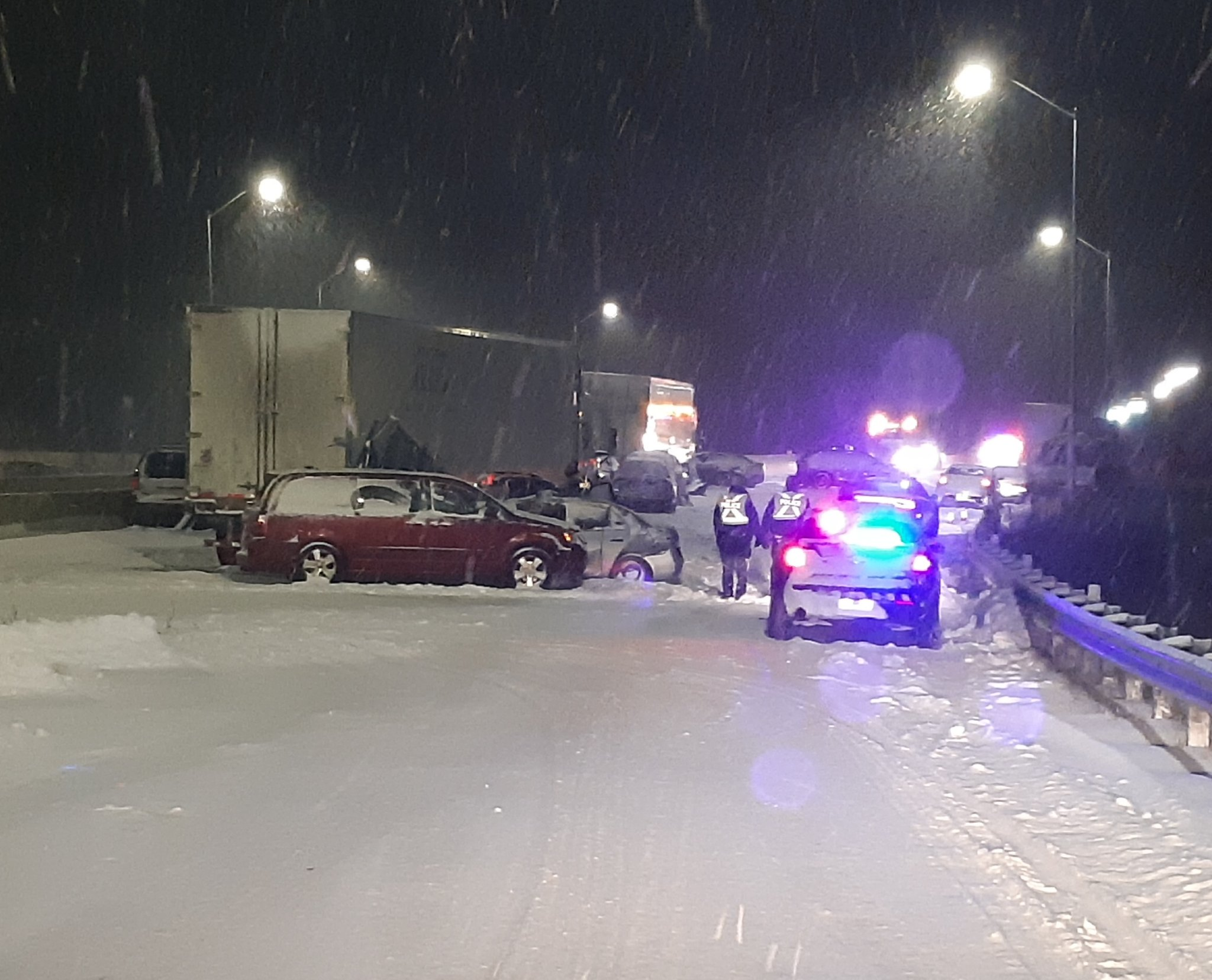 One dead, 16 others hurt during a massive pileup — KINGSTON CRASH