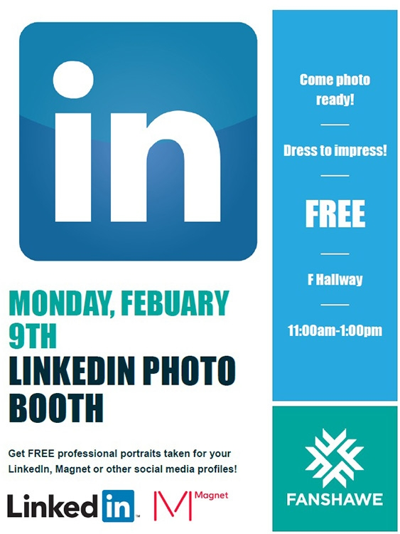 LinkedIn Booth kicks off Career Week at Fanshawe