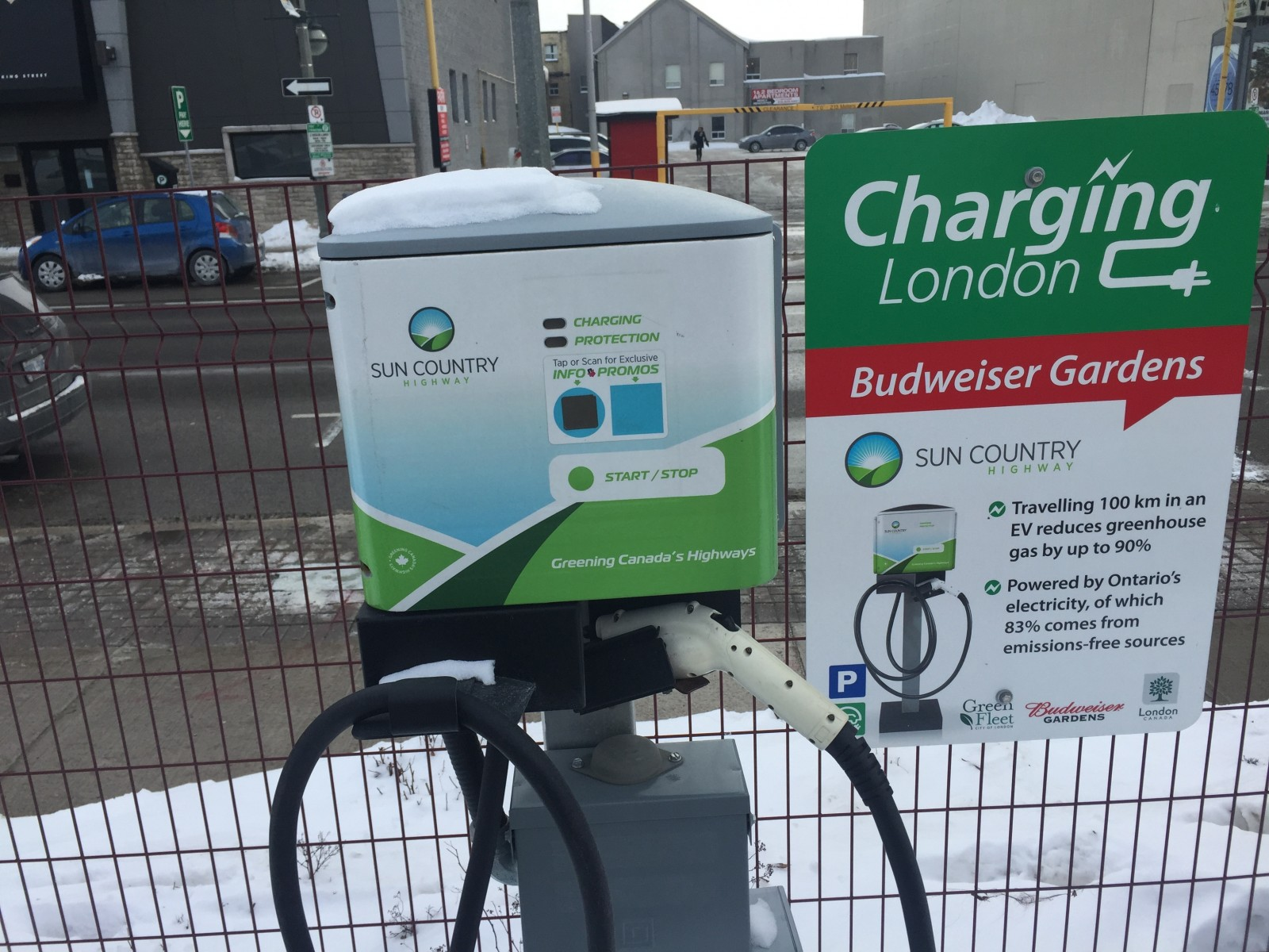 Electric vehicle charging stations surge through London