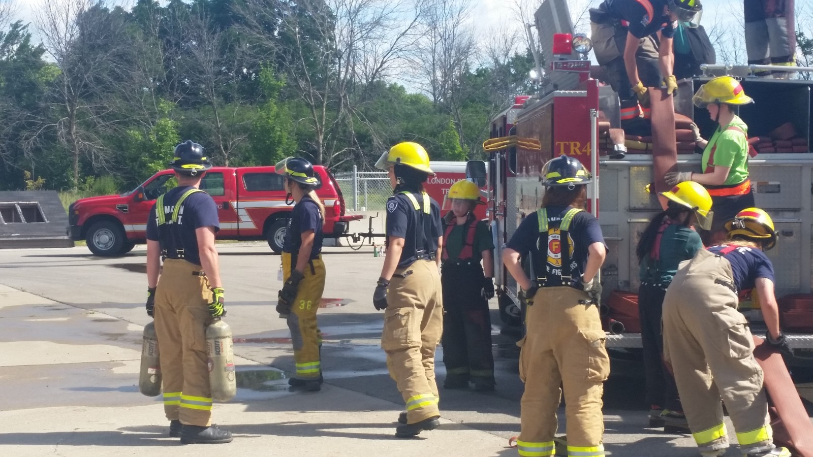 Local women train to fight fires