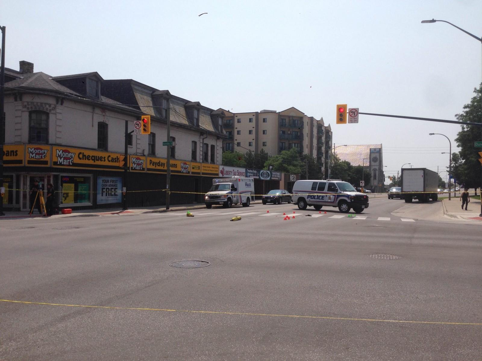 Two crashes on Dundas St. send pedestrians to hospital