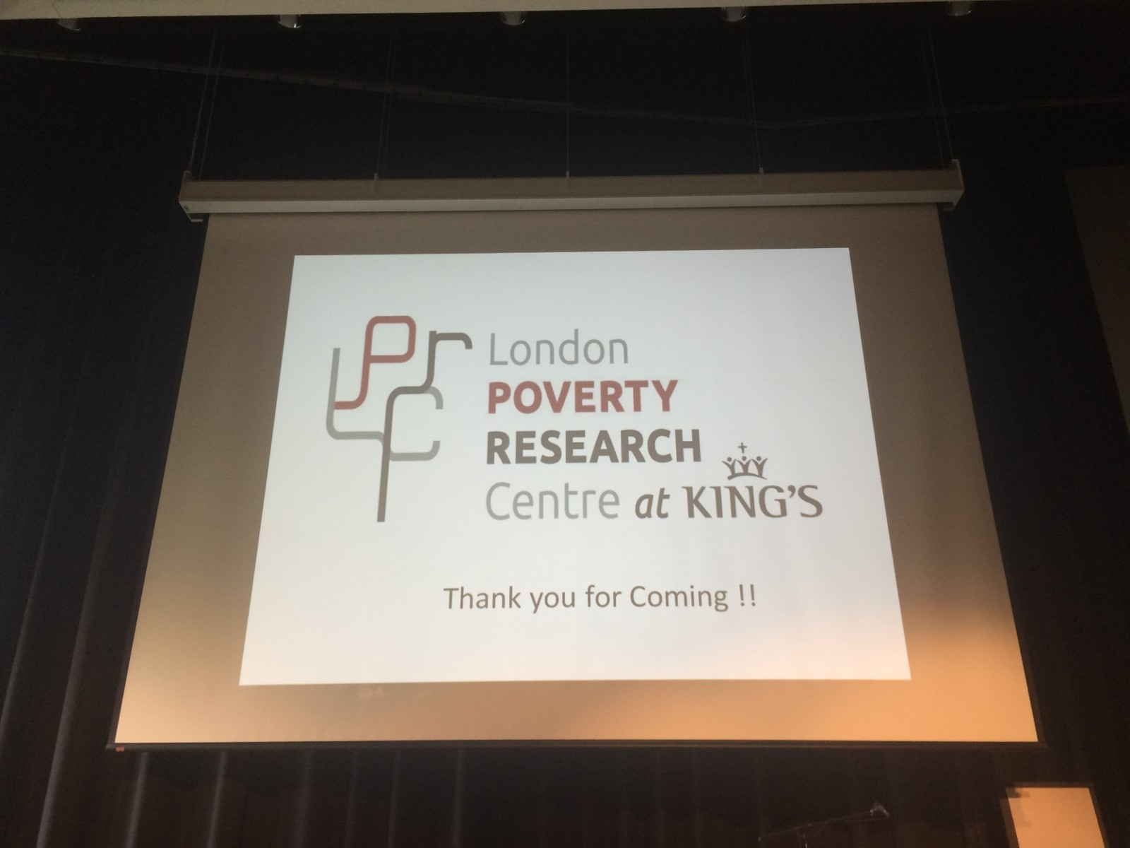 Conference about poverty in London encourages public to inform themselves.
