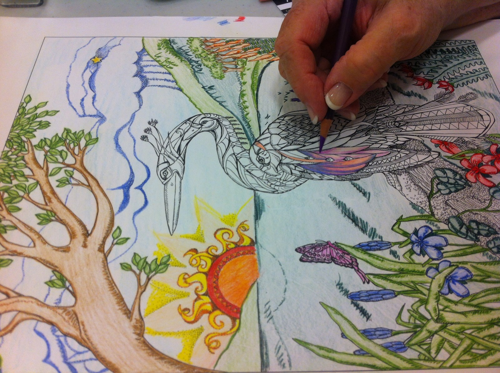 Colouring a familiar, but new way to relax
