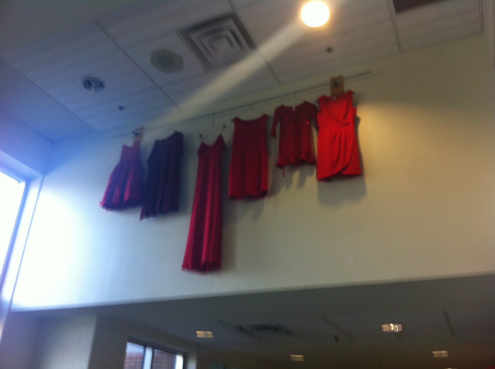 13 red dresses for missing and murdered Indigenous women
