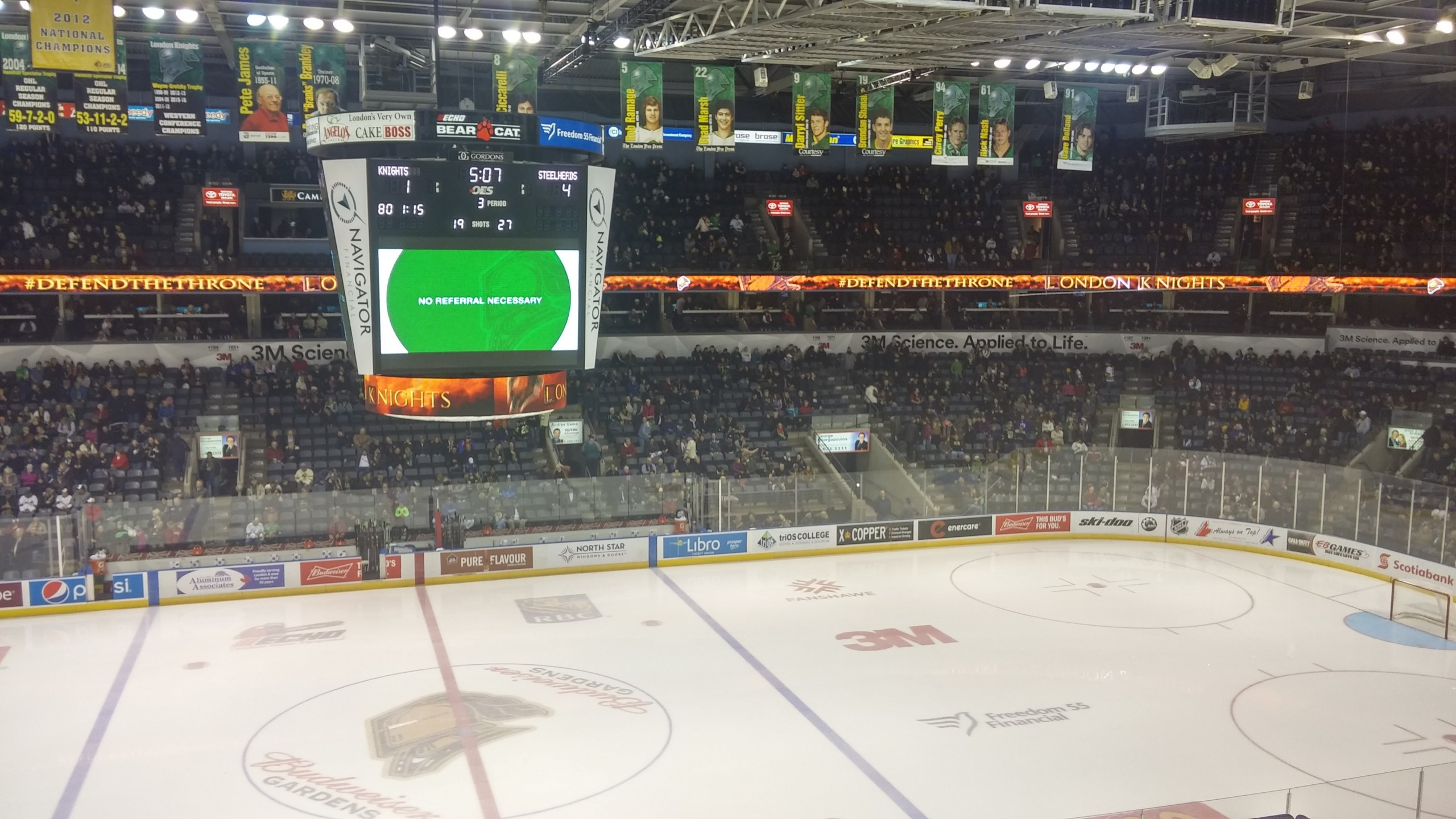 London Knights take a loss from the Mississauga Steelheads