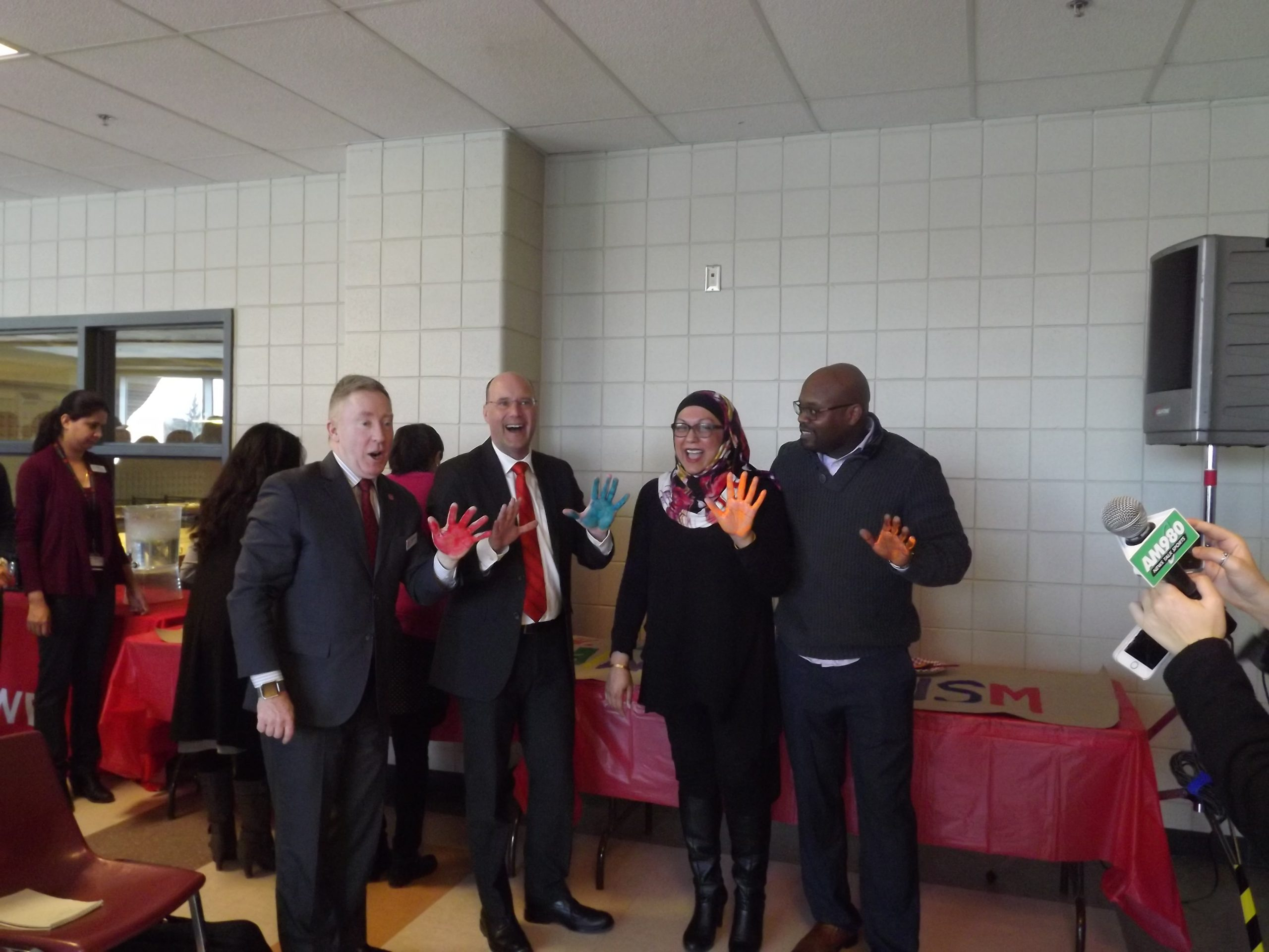 Raising hands against racism at Fanshawe College