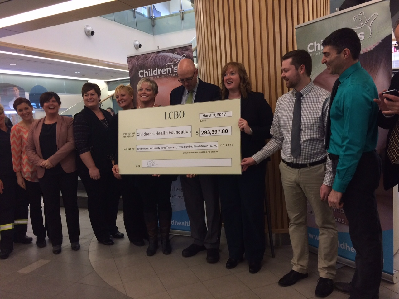 LCBO gives back to London Children's Hospital