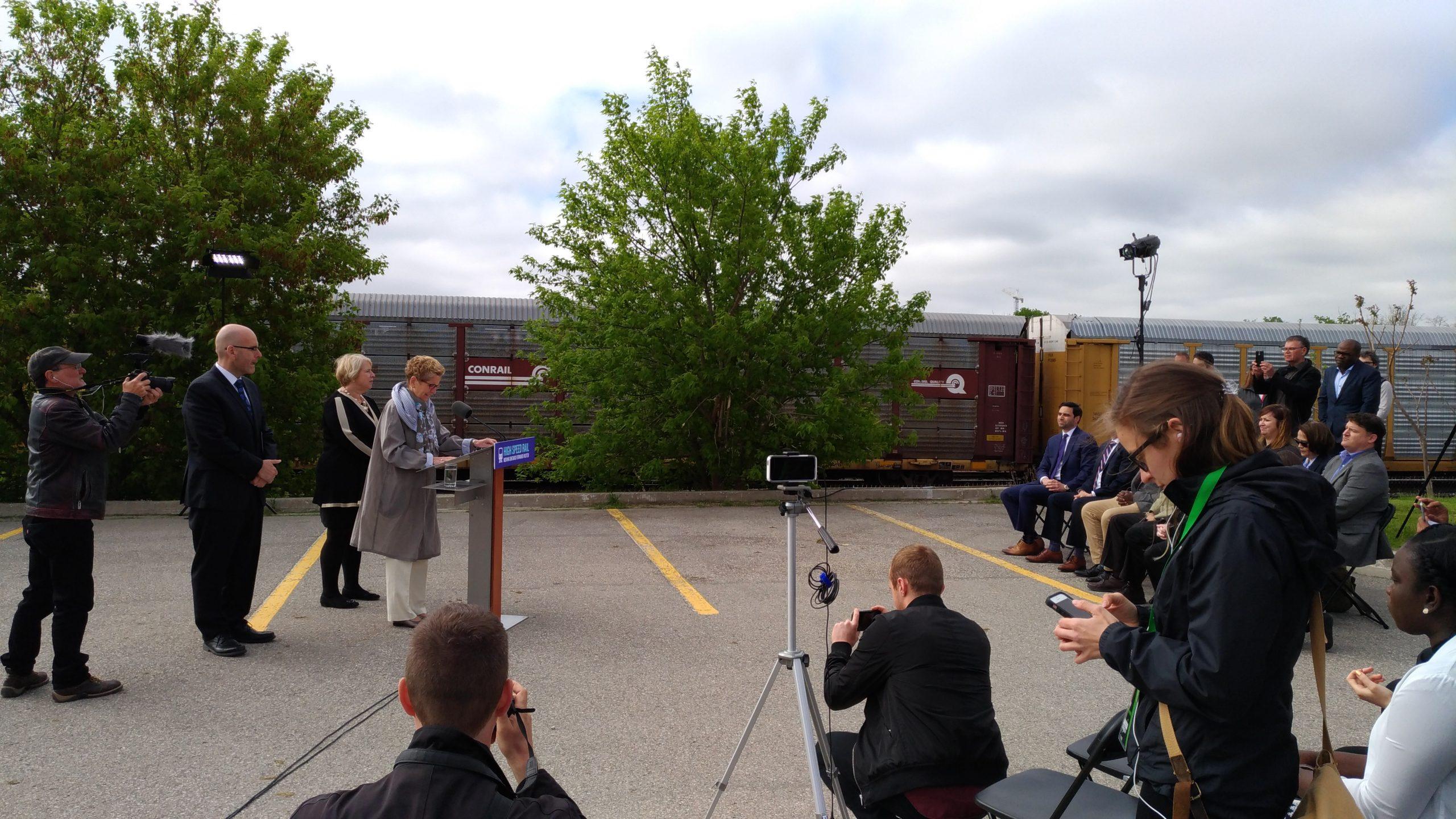 Premier Wynne Announces Plans for High Speed Rail