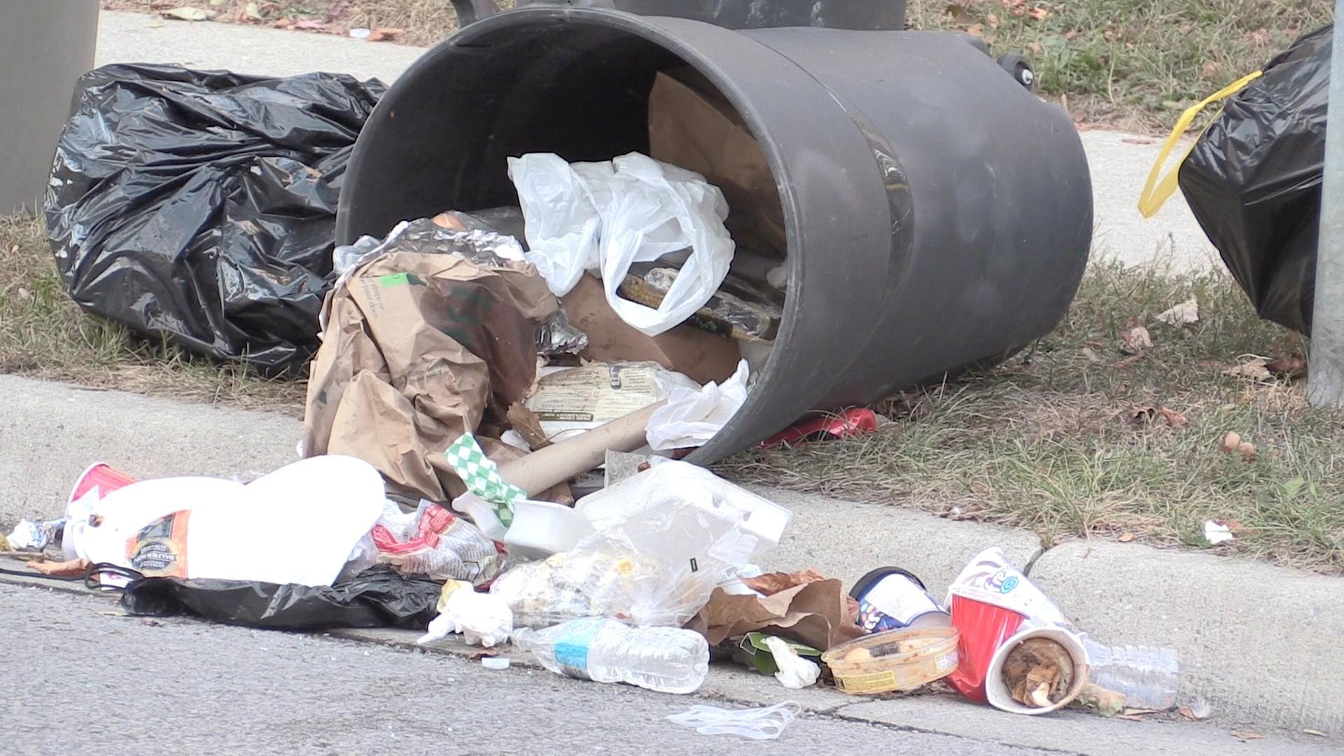 Student street or garbage dump