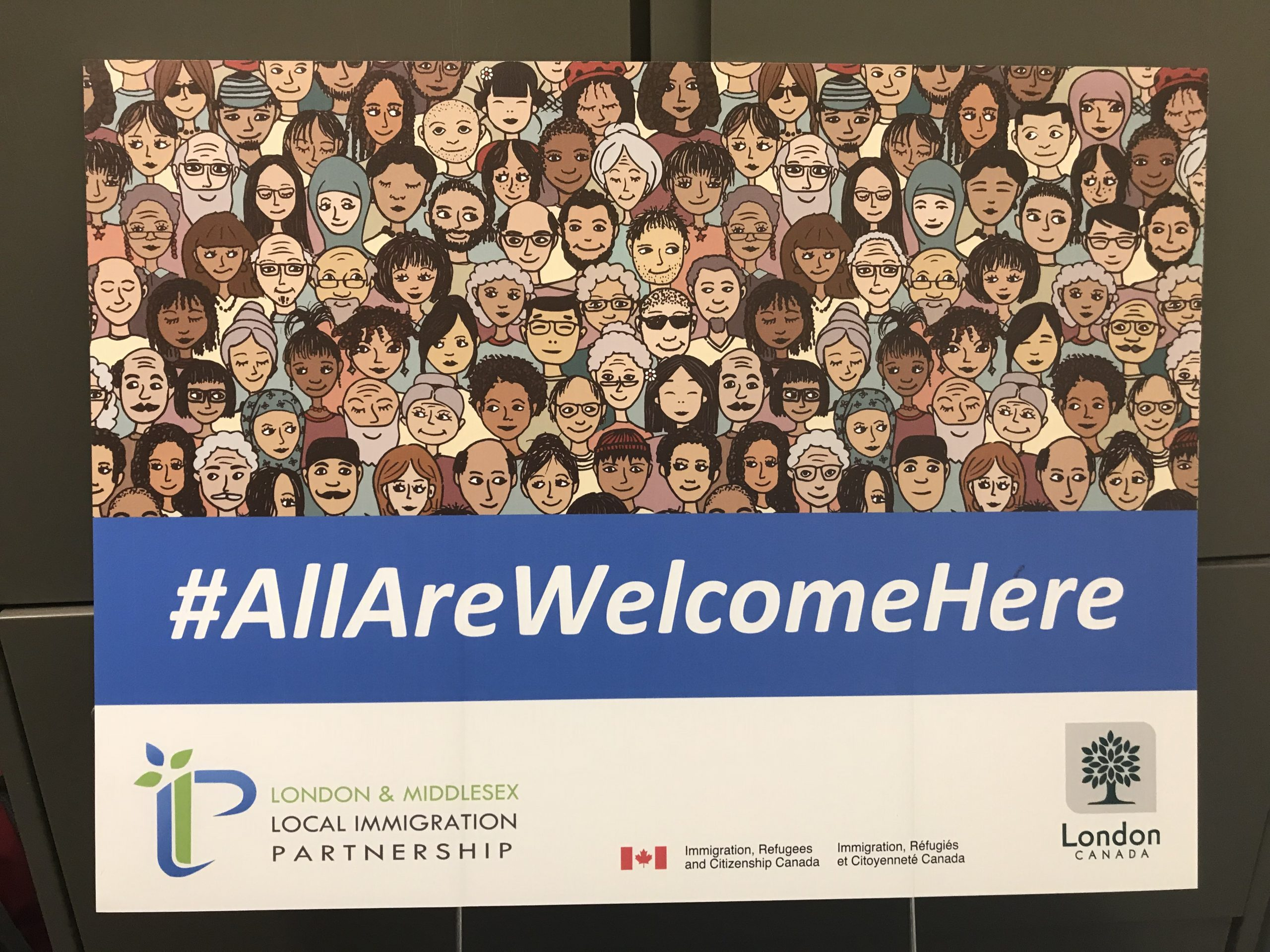 """All are welcome here""- a local campaign against bigotry"