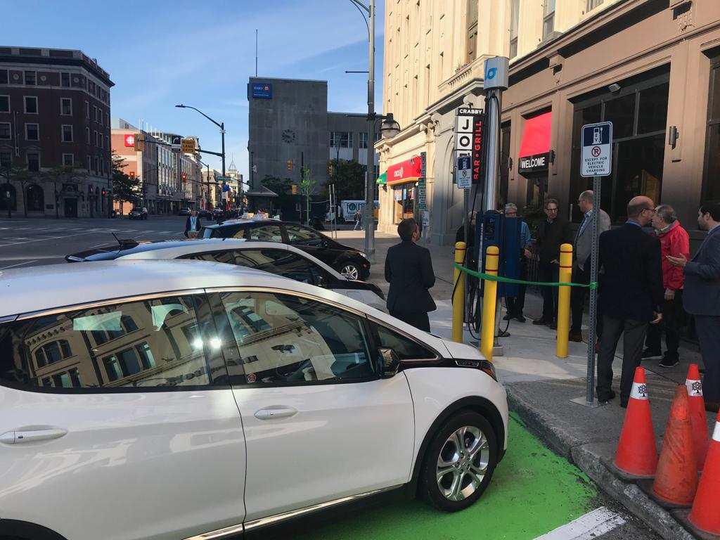 Downtown London: Third electric vehicle charging station launch