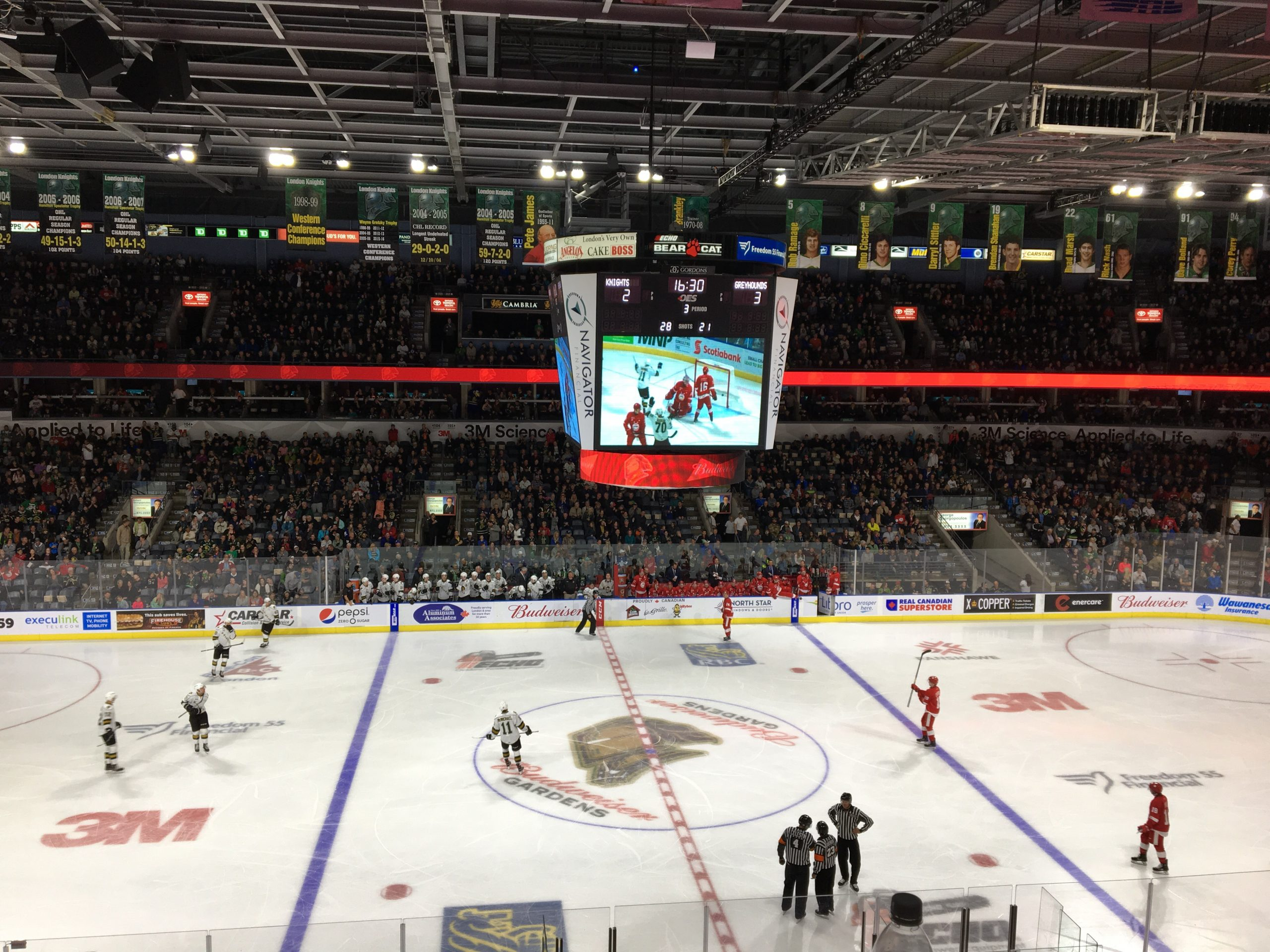 Stranges Scores First OHL Goal, Knights fall to Greyhounds