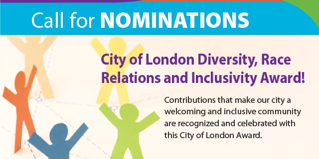 Londoners to be recognized with The Diversity, Race Relations & Inclusivity Award