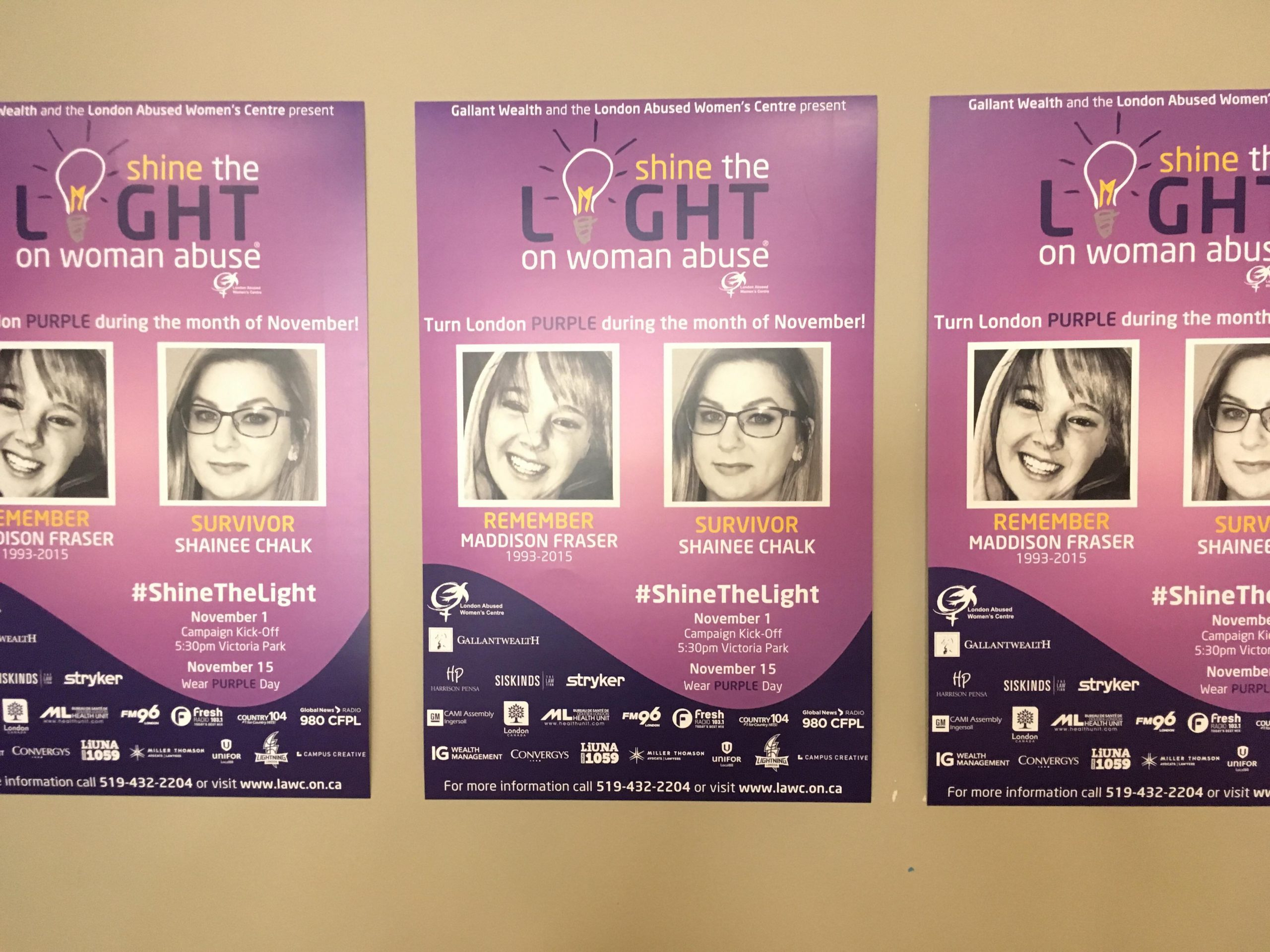 Abuse survivor speaks out for shine the light event