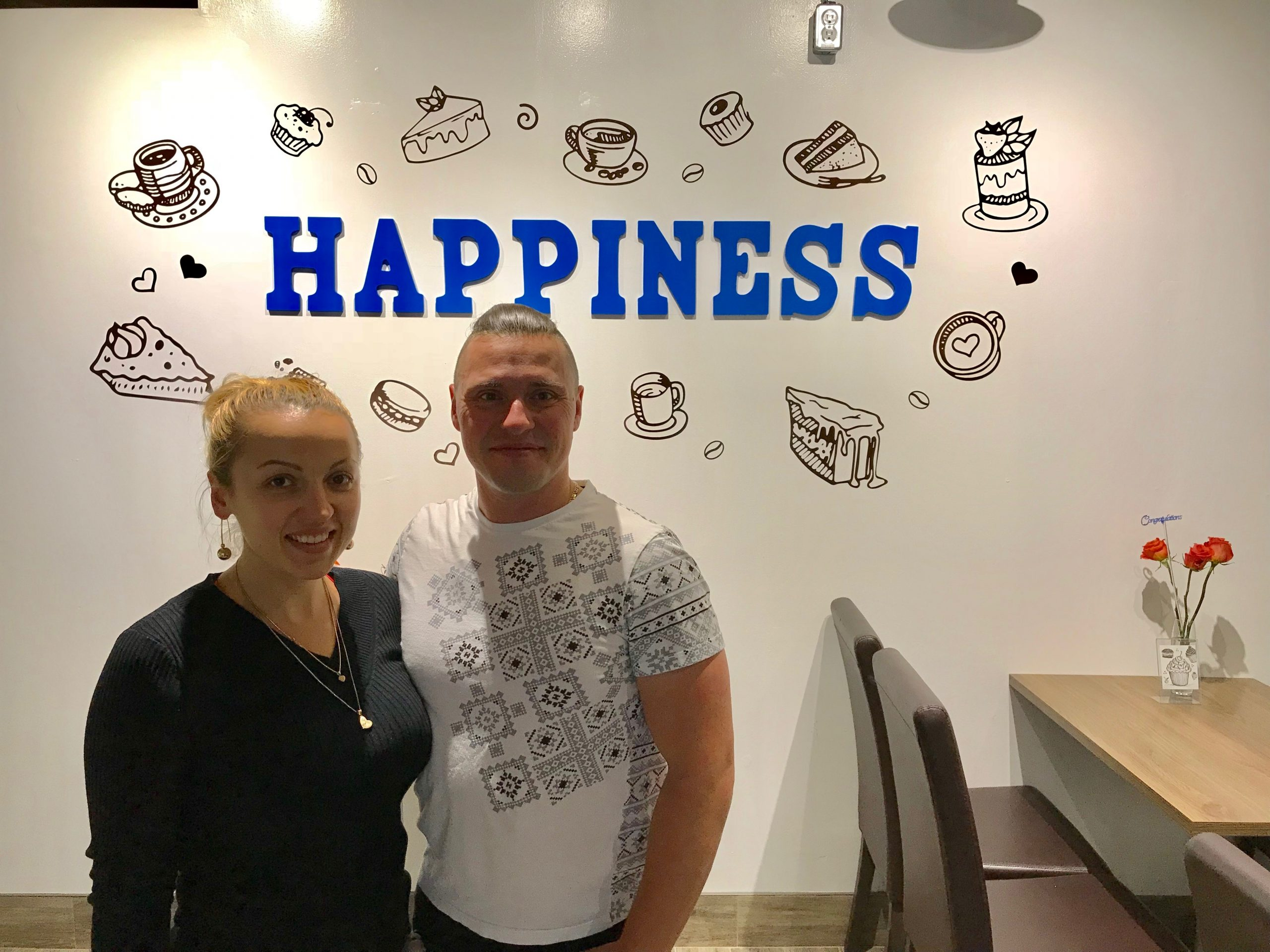 Ukrainian couple promise Londoners to find 'Happiness' through coffee and desserts