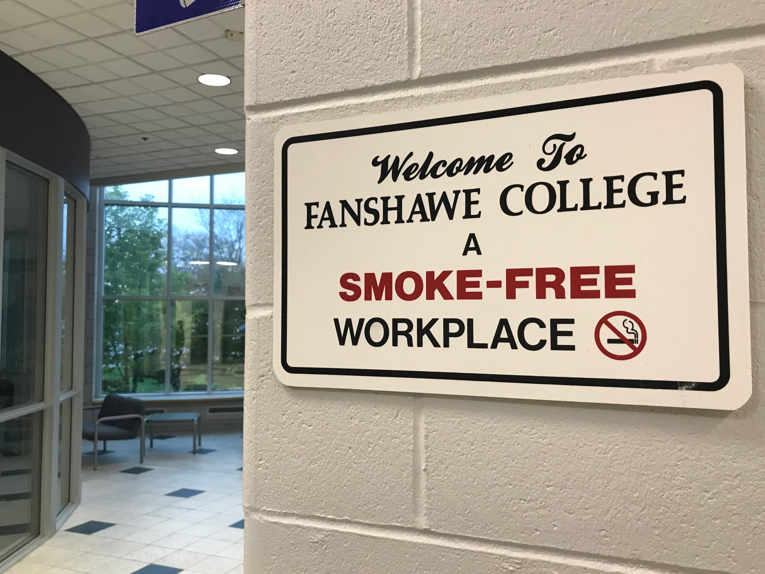 New smoke-free policy to be imposed on Fanshawe College campus could help smokers quit easier