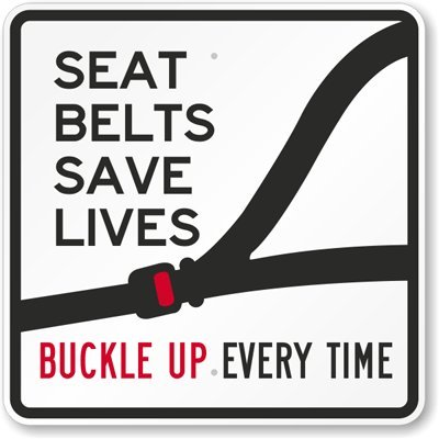 Seat belts are the first line of defence