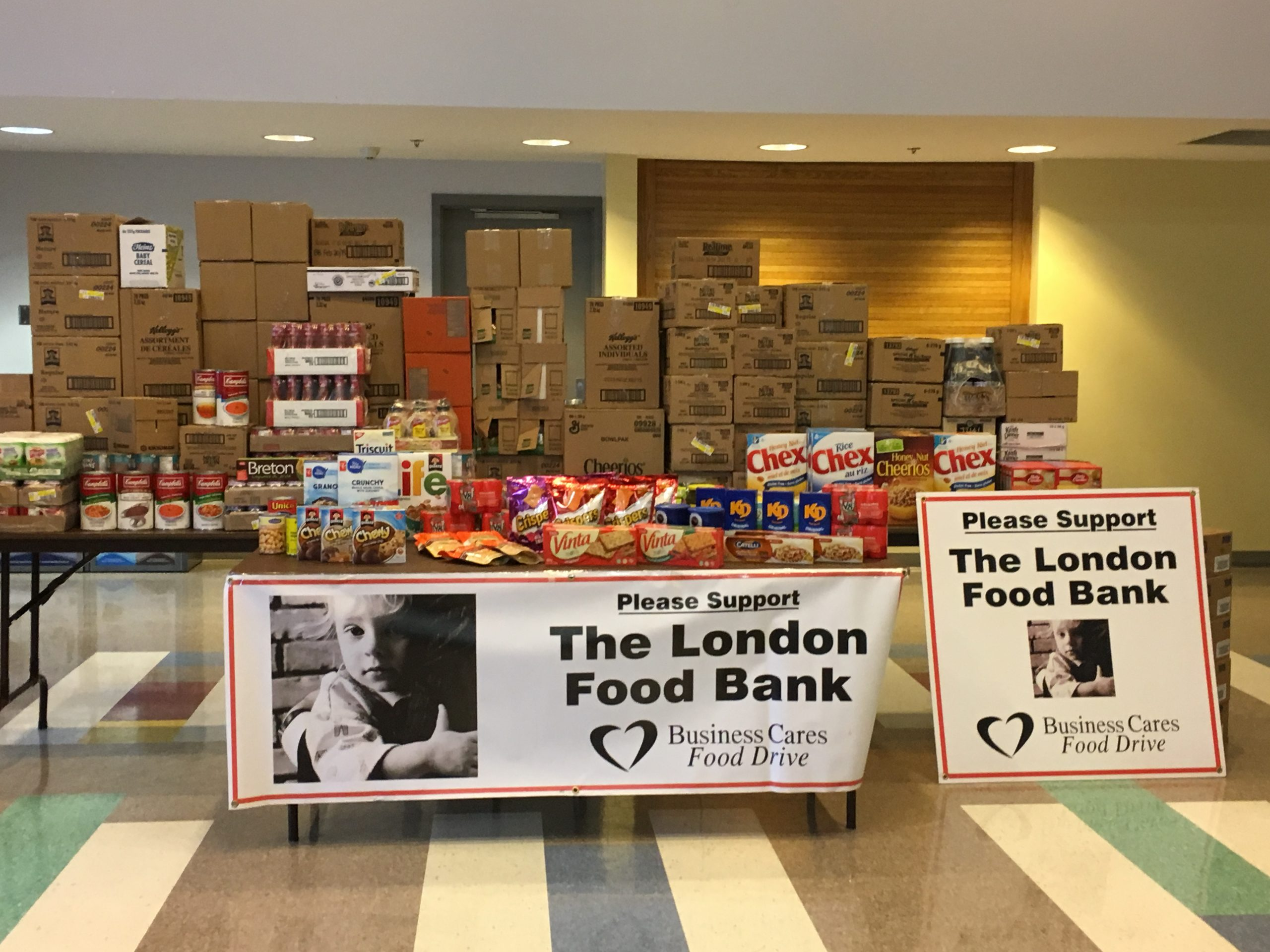 Business Cares Food Drive: Kicks off campaign