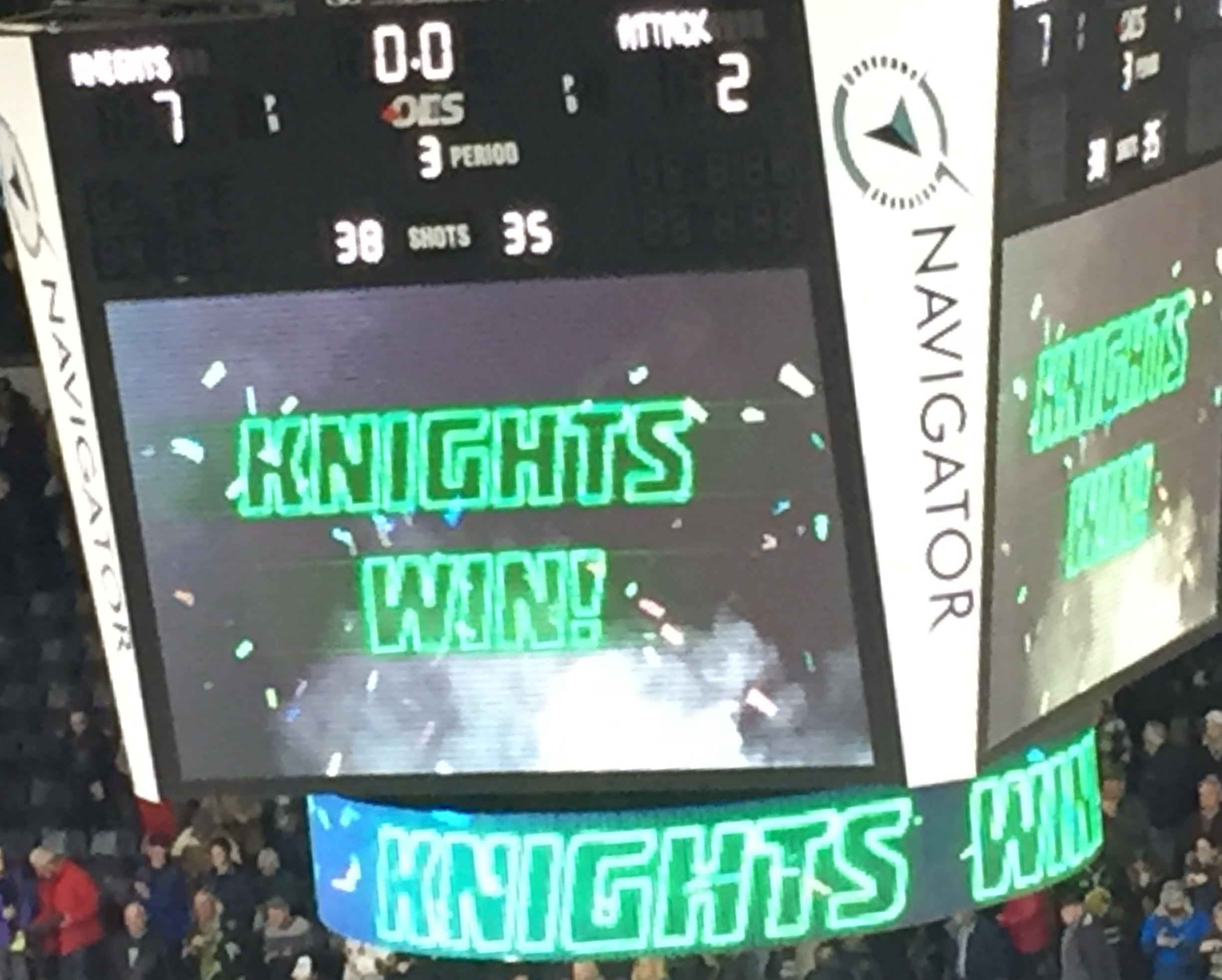Knights win big and extend their winning streak to 11 games