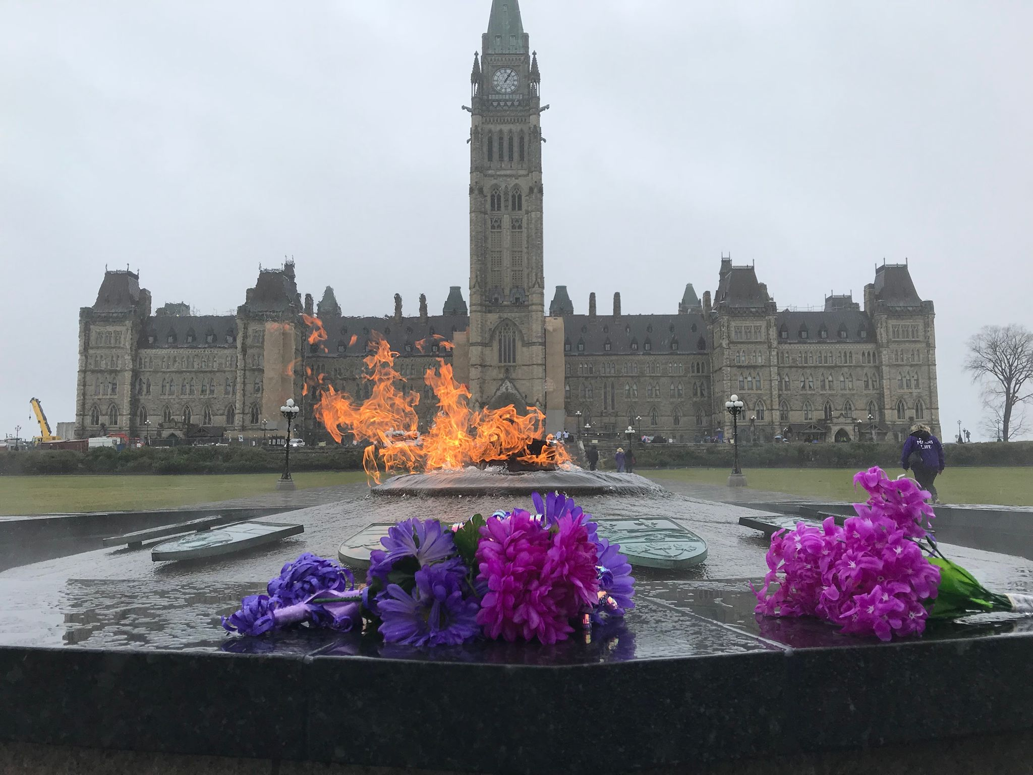 Justice for Tori chanted on Parliament Hill
