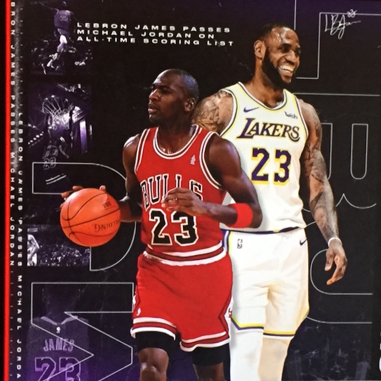 8321a6001c3ae3 LeBron James passes idol Michael Jordan to become 4th on the all-time  scoring list