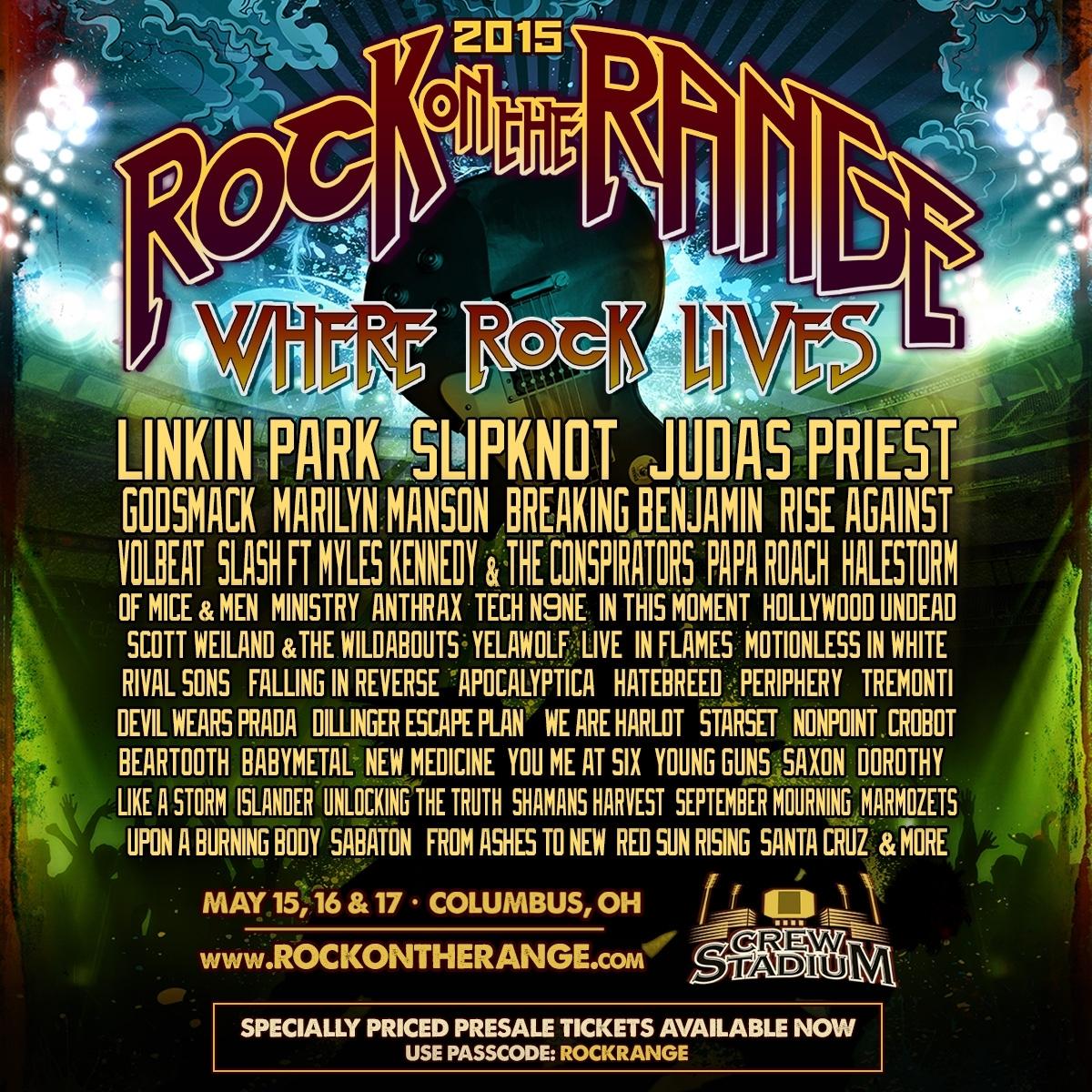 Rock on the Range 2015:  Pre-Sale