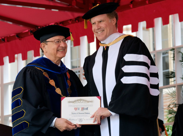 Will Ferrell...err uh Dr Ferrell delivers commencement at USC graduation!