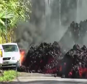 [WATCH] Molten Lava Eats Mustang
