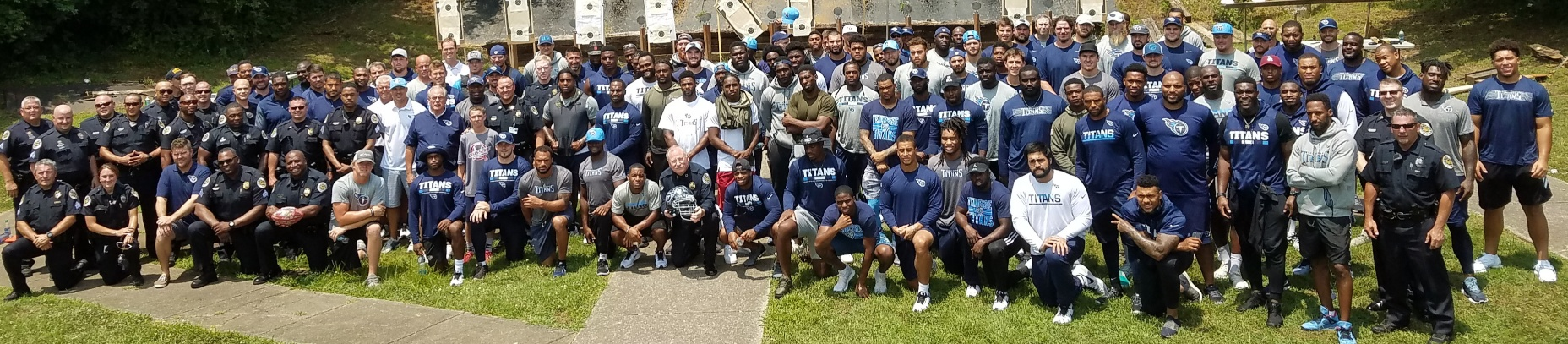 Full Tennessee Titans Team Visits MNPD Training Academy