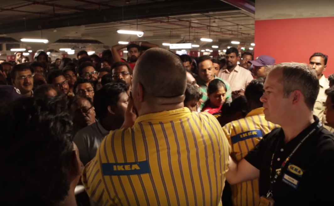 Insane Crowds At New Indian IKEA (Video)