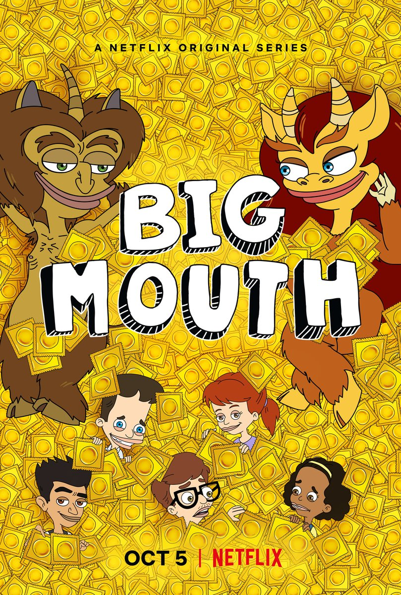"""""""Big Mouth"""" is coming back for Season 2!!!!!"""