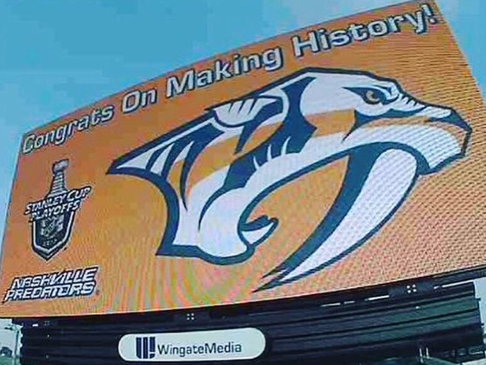 City of Nashville is in full support of Preds and their Stanley Cup Playoff run