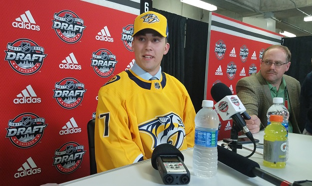 LIVE FROM CHICAGO: What experts say about Preds 3rd rd pick David Farrance
