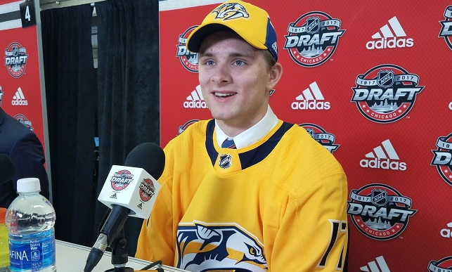 LIVE FROM CHICAGO: What the experts say about Preds 2nd rd pick Grant Mismash