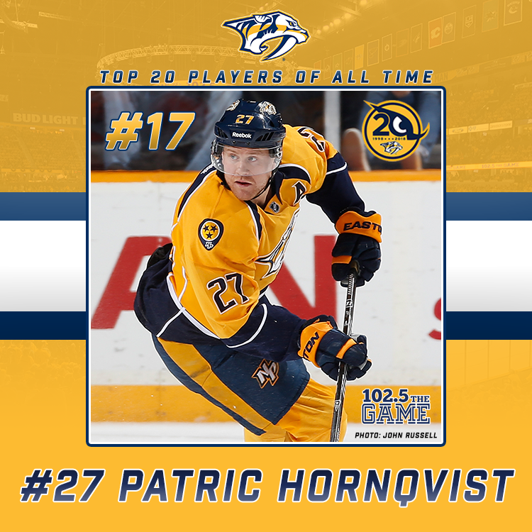 The Top 20 Predators of All Time: #17 Patric Hornqvist