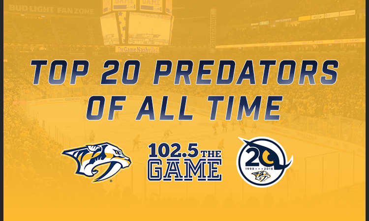 Top 20 Nashville Predators of All Time