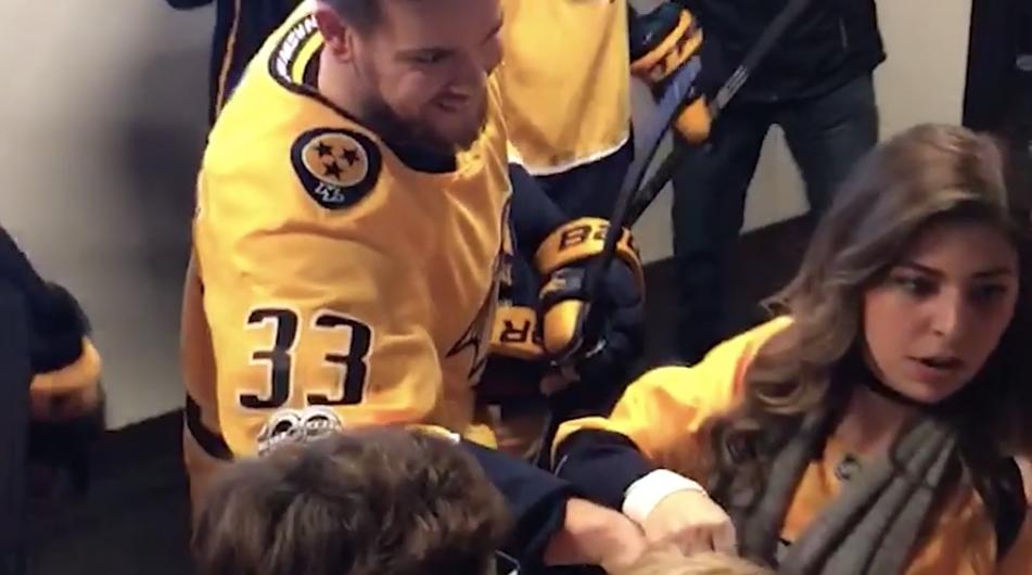 VIDEO: Viktor Arvidsson helps Preds fans get engaged