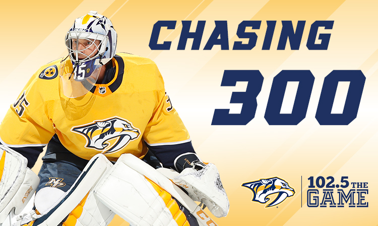 Chasing 300: Pekka Rinne is on the doorstep of a very exclusive club